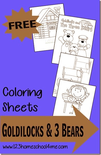free goldilocks coloring pages  free homeschool deals