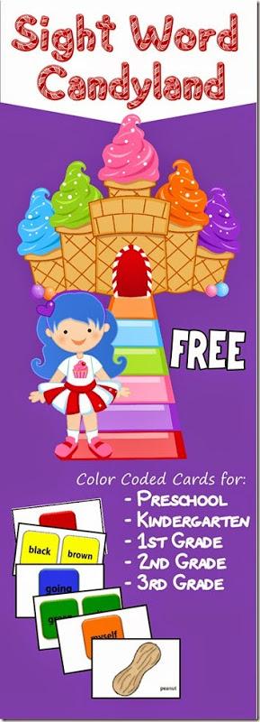 FREE Sight Work Candy Land