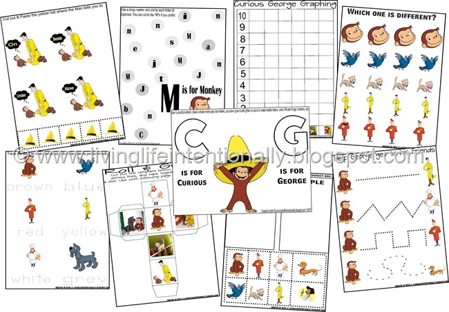 Ideas for Curious George Crafts