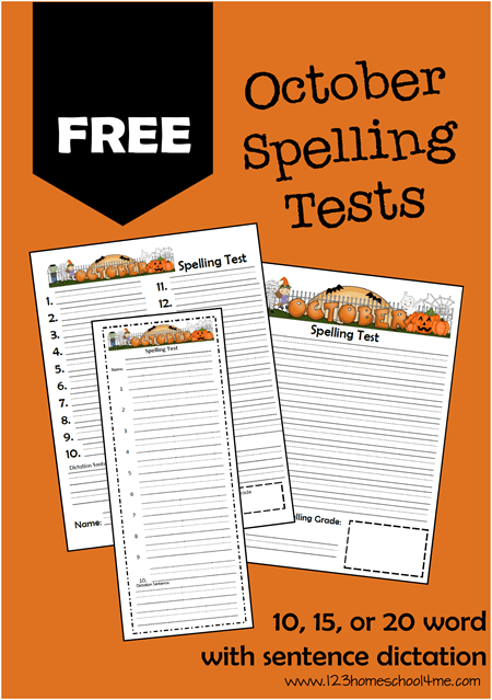 FREE Spelling Tests