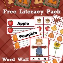 FREE Fall Literacy Pack
