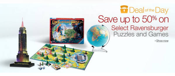 50% Off Ravensburger Puzzles & Games!