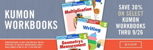 30% Off Kumon Educational Activity Books
