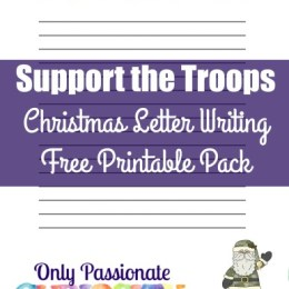FREE Support the Troops Writing Pack