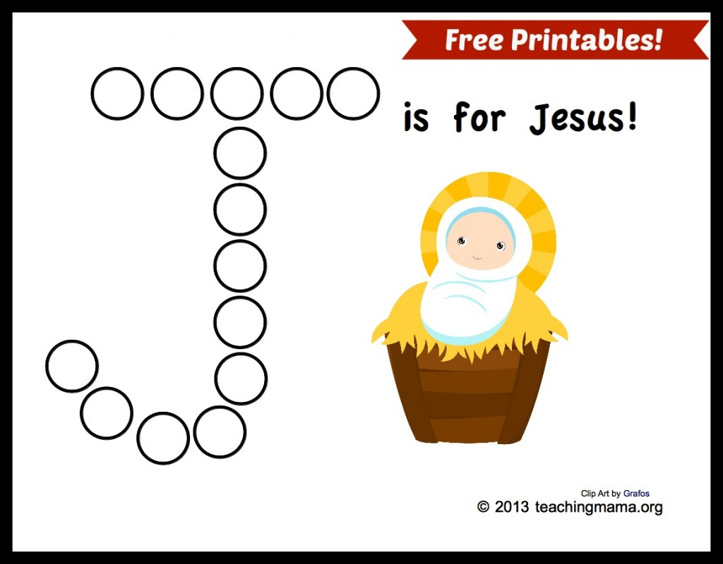 Free J Is For Jesus Page