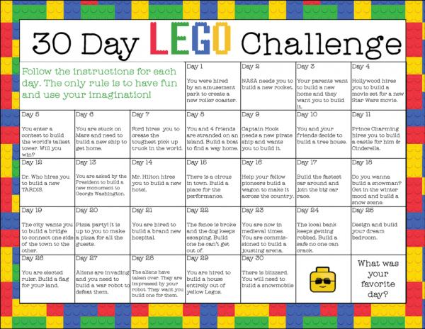 30 Day LEGO Challenge