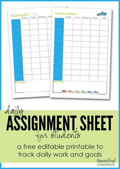 FREE Assignment Sheets