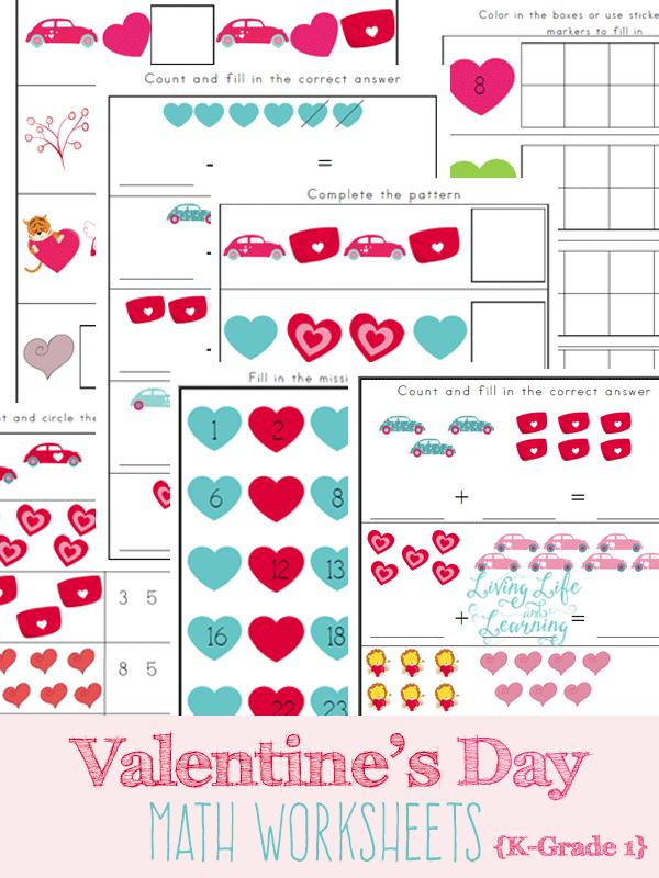 FREE Valentine\'s Day Math Worksheets   Free Homeschool Deals ©