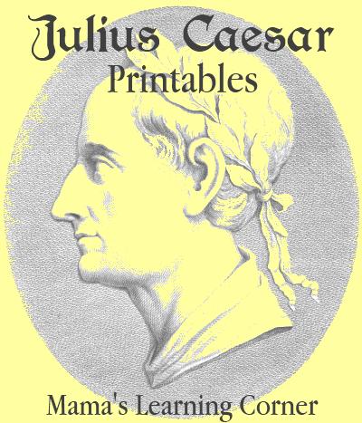 Julius Caesar Printables and Unit Study Resources
