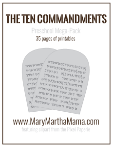 FREE Ten Commandments pack