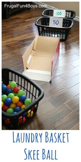 Laundry Basket Skee Ball