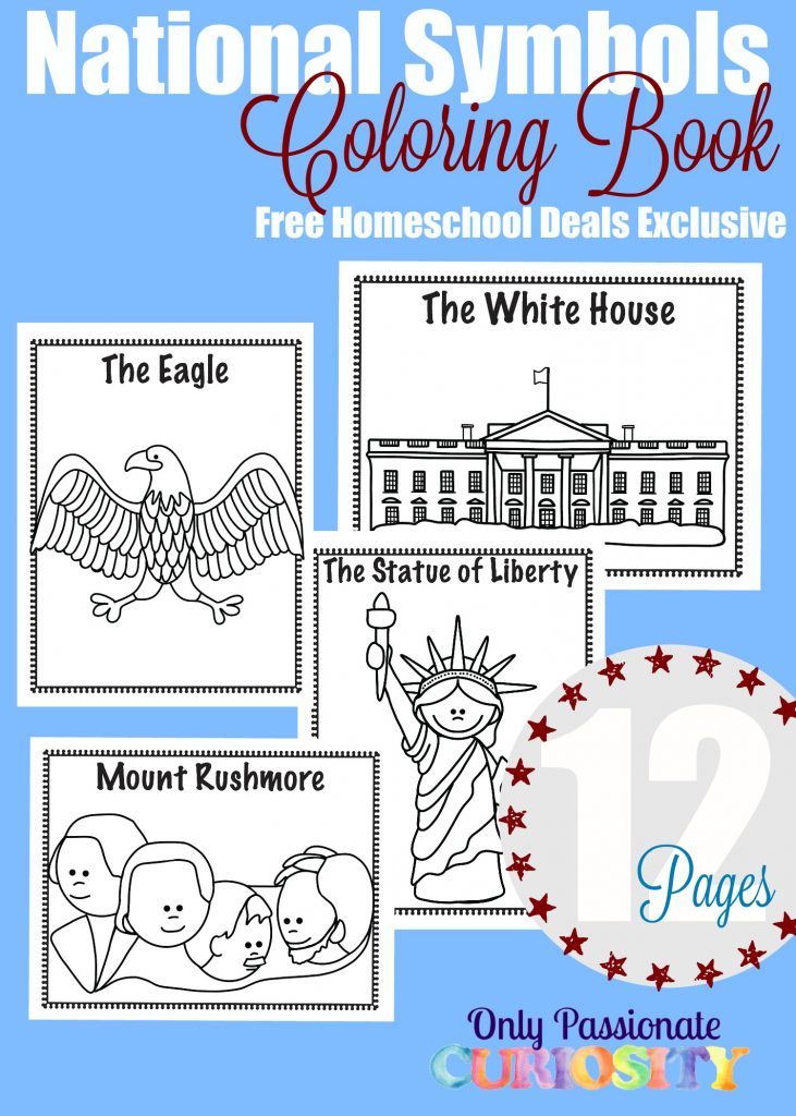 Free National Symbols Coloring Book Instant Download Free
