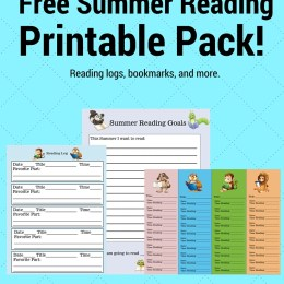 FREE Summer Reading Printables Pack