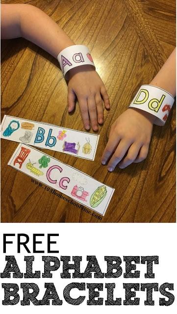FREE Alphabet Bracelettes
