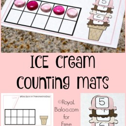 FREE ICE CREAM COUNTING MATS (Instant Download!)