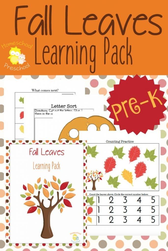 free fall leaves preschool pack free homeschool deals