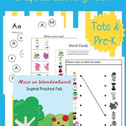 FREE Alice in Wonderland Printables Pack