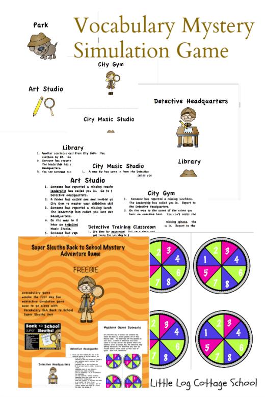 FREE Super Sleuths Vocab Pack