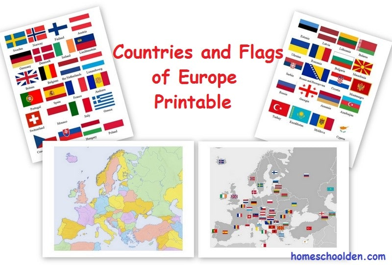 FREE European Countries Flags and Printables | Free ...