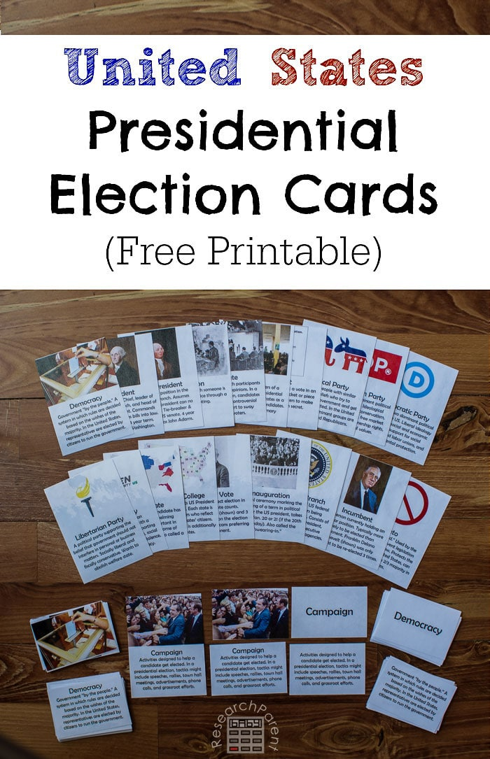 FREE US Presidential Election Cards | Free Homeschool Deals