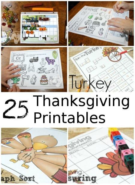 25 Fun & Free Thanksgiving Printables