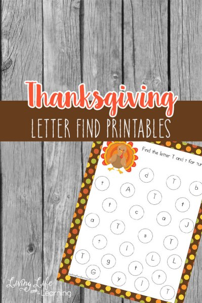 Free Thanksgiving Letter Find Printables