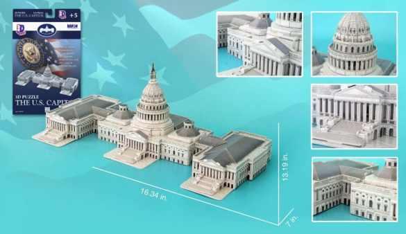 US Capitol Building 3D Puzzle Only $11.97!