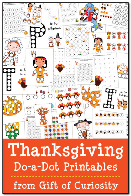 Free Thanksgiving Do-a-Dot Printable Pack