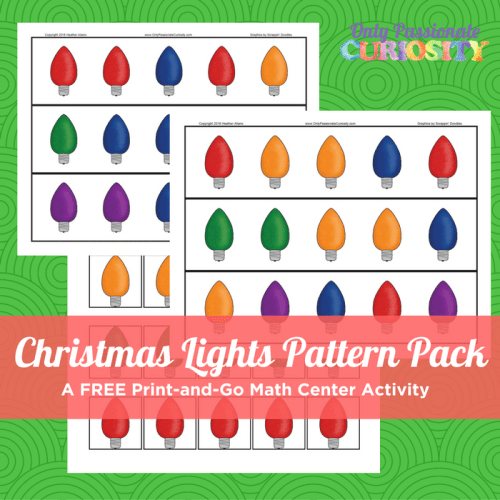 Free Christmas Lights Pattern Pack