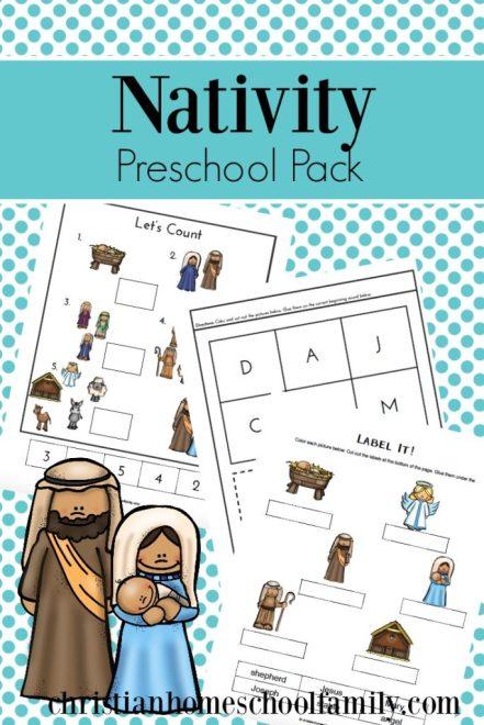Free Nativity Preschool Pack