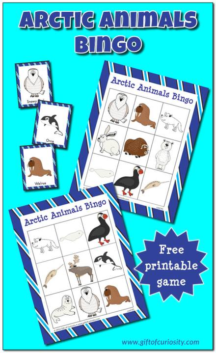 Free Arctic Animals BINGO Game