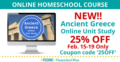 25% Off NEW Ancient Greece Online Unit Study