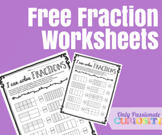 Free Print-and-Go Fraction Worksheets