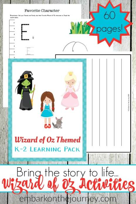 Free The Wizard of Oz Printables (60 Pages!)