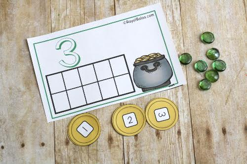 St. Patrick's Day Counting Mats