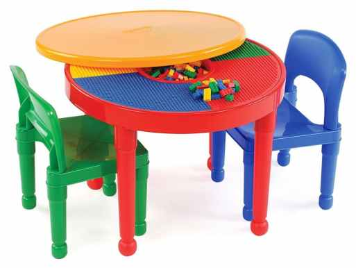 LEGO-Compatible 2-in-1 Activity Table & Chairs Set Only $33.29! (57% Off!)
