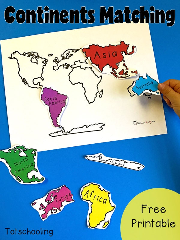 Printable Map Seven Continents