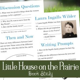 Free Little House on the Prairie Book Study Printables