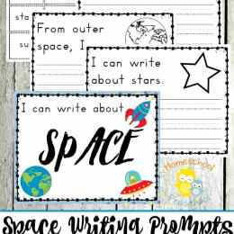 Free Preschool Space Writing Prompts