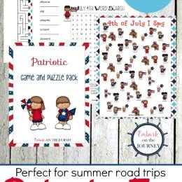 Free Patriotic Games and Puzzles Printable Pack