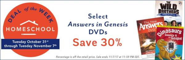 30% Off Select Answers in Genesis DVDs