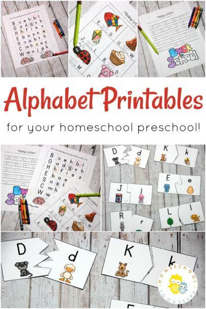 Free Preschool Alphabet Printables