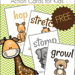 FREE ZOO ANIMAL ACTION CARDS (Instant Download)