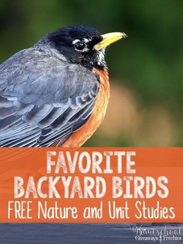 Free Backyard Birds Nature & Unit Study Resources