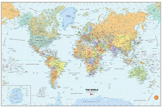 Peel & Stick World Dry Erase Map Only $6.54!