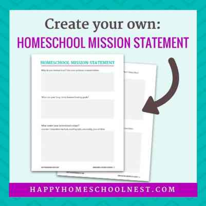 Free Homeschool Mission Statement Printables