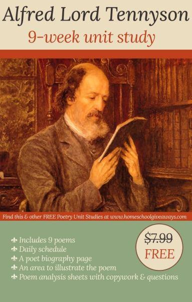 Free Alfred Lord Tennyson 9-Week Unit Study