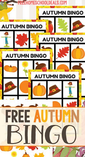 FREE AUTUMN BINGO GAME (Instant Download)