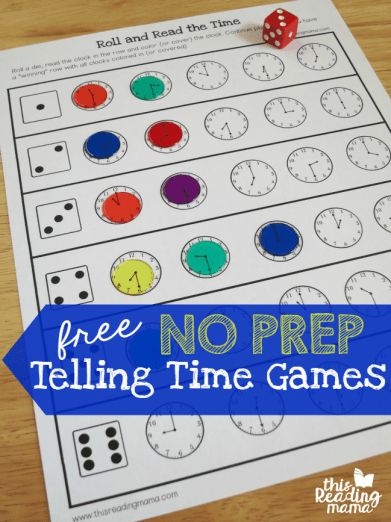 Roll & Read the Time Game