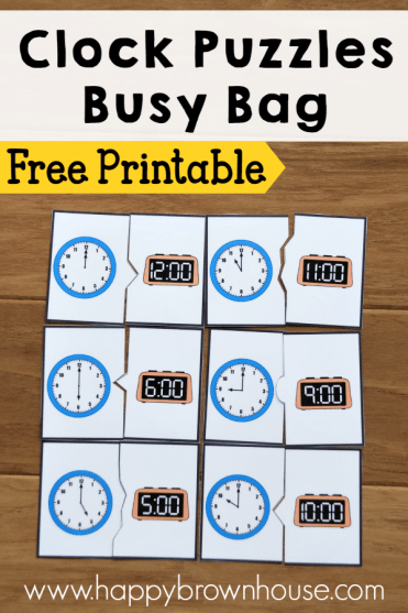 Clock Puzzle Busy Bag